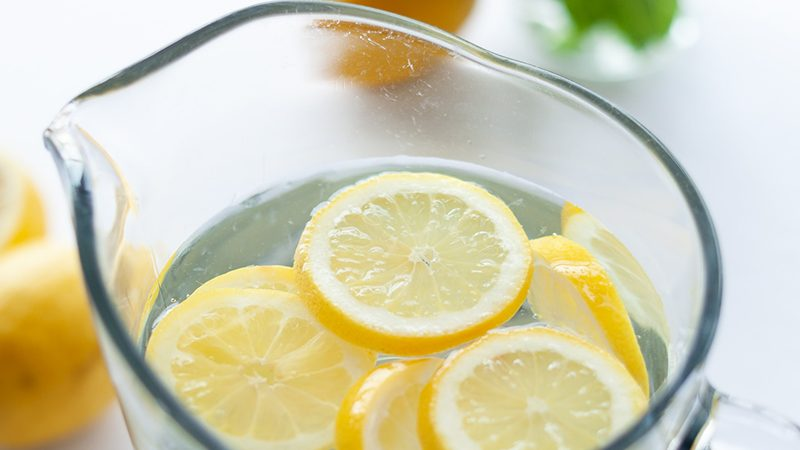 lemon water to help with water retention